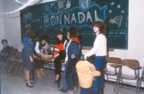Festa de Nadal de l'Escola de Mestres Blanquerna. Anys 70
