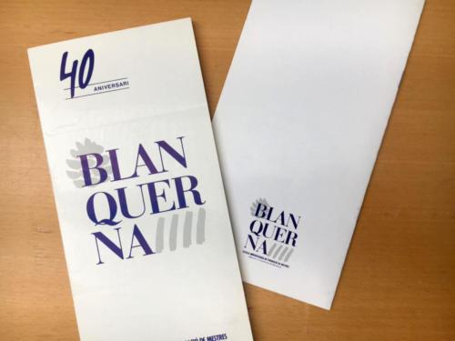 Fulletó del 40è aniversari de Blanquerna. 1988