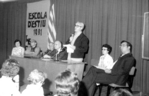 Acte de l'Escola d'Estiu Blanquerna. 1981