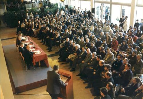 Inauguració del nou edifici de la Facultat de Comunicació Blanquerna-URL.1996