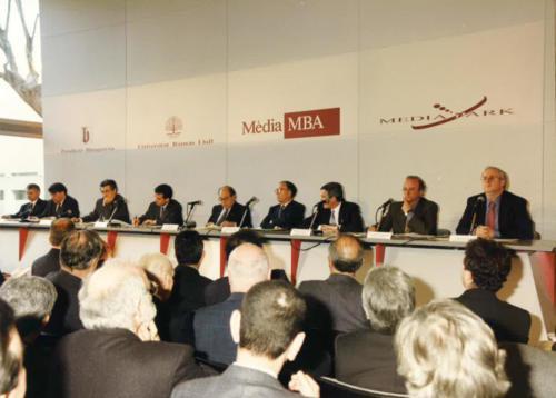 Inauguració delMàsterMedia MBA de Blanquerna i MediaPark. FCC.