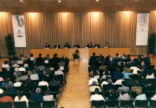 Acte de celebració del 50è aniversari de Blanquerna. 1998