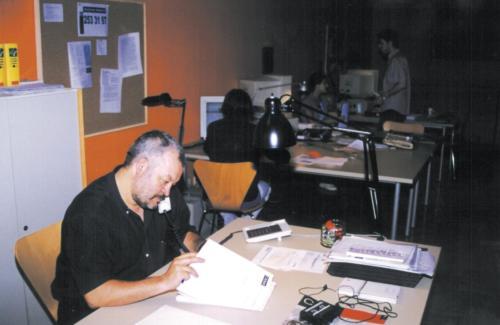 Eugenio Madueño, primer director de la revista Nova Ciutat Vella. FCC. 1999