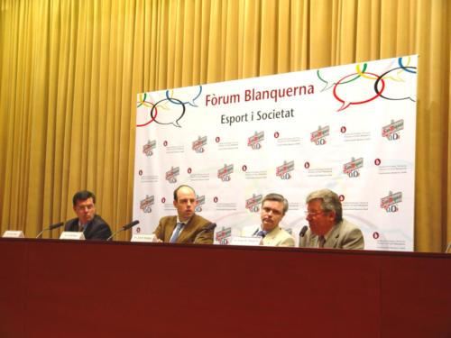 Fòrum Esport i Societat. Amb Jordi Basté i Josep M. Minguella.FPCEE.2003