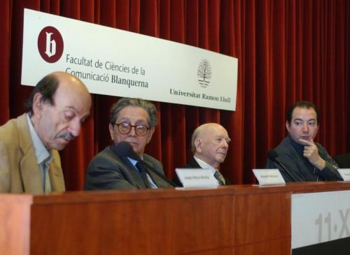 Taula rodona amb Josep M. Muñoz, Joaquim Maluquer, Miquel Batllori i Vicens Sanchis. FCC. 2002