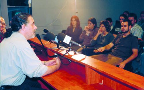 """El director Fernando Trueba presenta la pel·lícula """"Calle 54."""" FCC. 2000"""