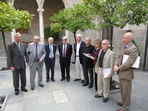 Recepció al Palau de la Generalitat pel Premi Catalunya Educació que Blanquerna va rebre el 2009