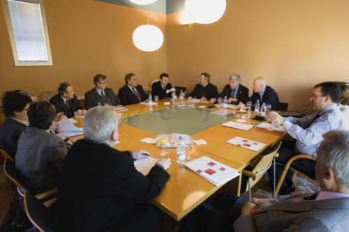 Reunió del patronat de Blanquerna a la Tamarita, 2009