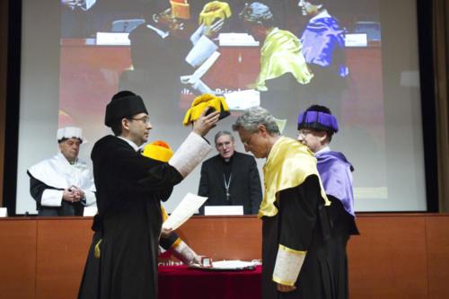 El Dr. Octavi Fullat, Doctor Honoris Causa per la URL. FPCEE, 2010