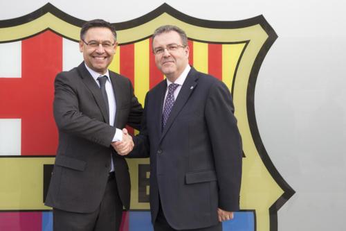 Acord entre Blanquerna i el FC Barcelona per impartir el Màster Universitari en Fisioteràpia dels Esports d'Equip, 24-10-2018